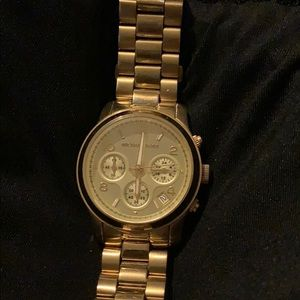 Gold Michael Kors large face watch
